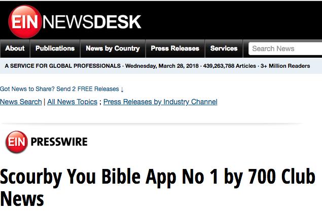 EIN PressWire says: Scourby You Bible App No 1 by 700 Club News