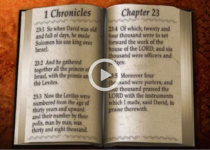 Bible Verse 1 Chronicles 23 - You Bible App